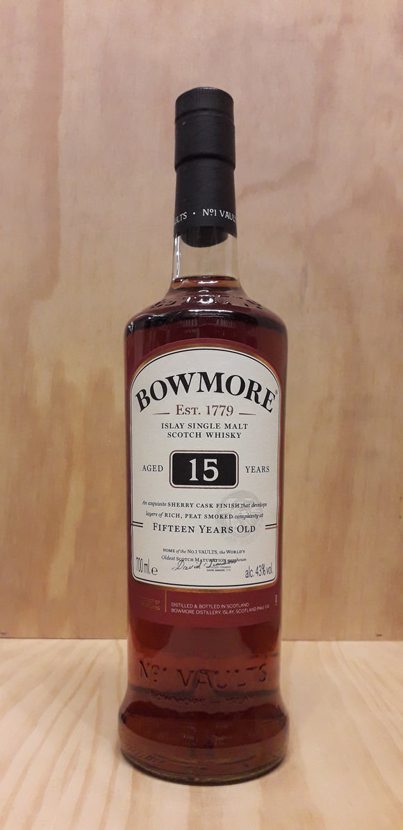 Whisky Malt Islay BOWMORE 15 Years 43%alc. 70cl
