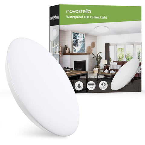 Novostella 12inch 18W IP65 Waterproof 6000K Daylight White LED Ceiling Lights