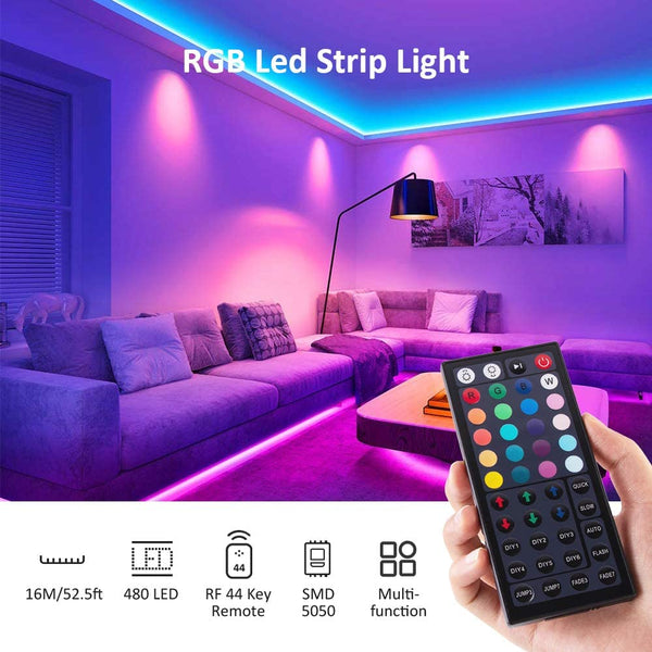 52.5ft 16M RGB Strip Lights