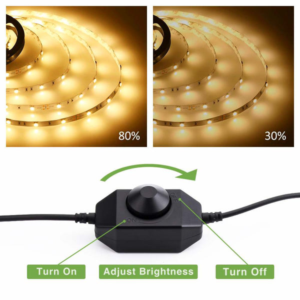 20ft 6M Dimmable 3000K Warm White LED Strip Lights
