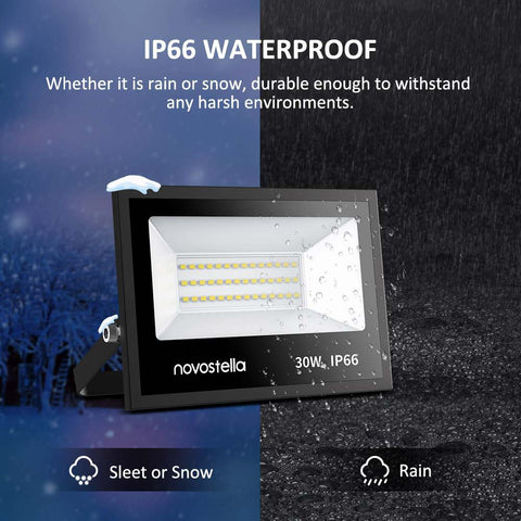 2 pack 30W 5000K Daylight White 3000LM LED Flood Lights