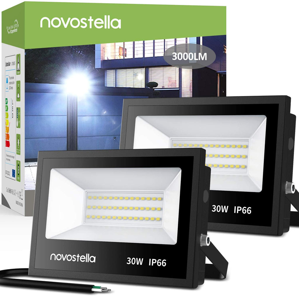 Novostella 30W 5000K Daylight White Flood Lights