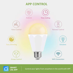 13W RGBCW Smart Light Bulbs