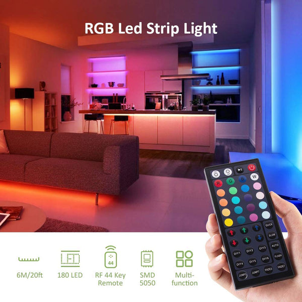 20ft 6M RGB Strip Lights