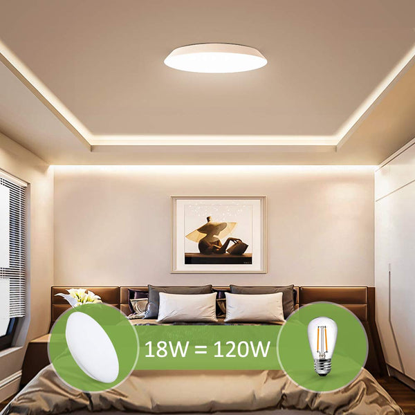 Novostella 12inch 18W IP65 Waterproof 3000K Warm White LED Ceiling Lights
