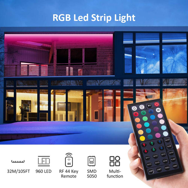 105ft 32M LED RGB Strip Lights