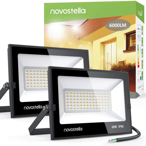 Novostella 60W 3000K Warm White LED Flood Lights