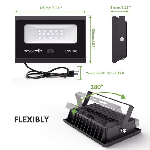 2 Pack 20W RGB LED Flood Lights