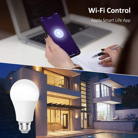 1 Pack 7W WiFi Alexa RGBCW Smart Light Bulb