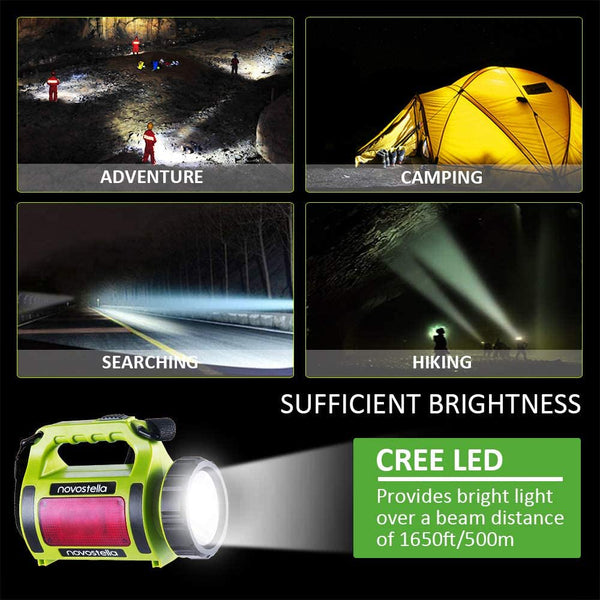 Novostella 2000mAh Rechargeable CREE LED Spotlight, Multi-Functional Waterproof LED Searchlight
