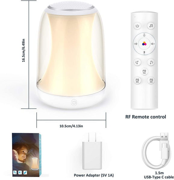 Novostella Good Night Light, Sound Machine, RGB Night Light with RF Remote Control