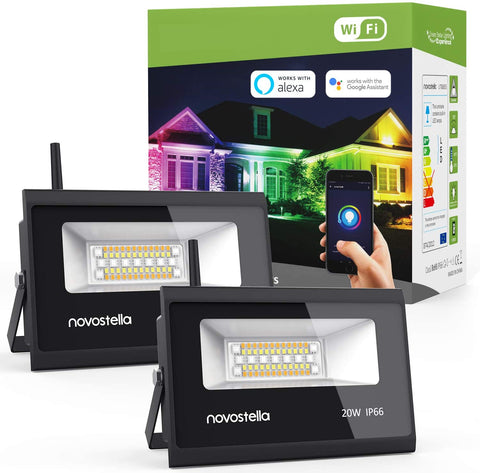 Novostella 20W RGBCW WiFi Smart LED Flood Lights