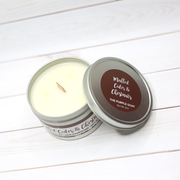 Glitter Candle Tin - Mulled Cider & Chestnuts