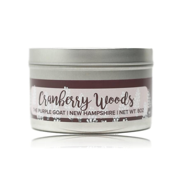 Glitter Candle Tin - Cranberry Woods