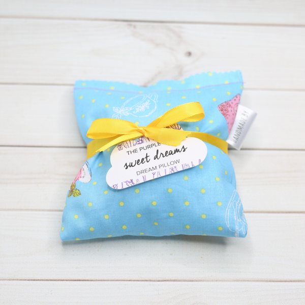 Slip our handmade dream pillow inside your pillow case at night for a restful sleep and pleasant dreams.