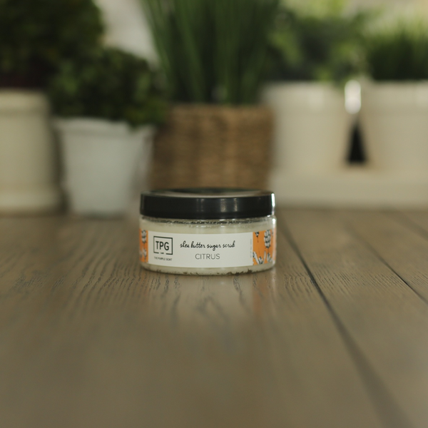 Shea Butter Sugar Scrub - Citrus