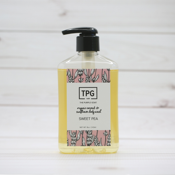 Organic Coconut & Sunflower Body Wash - Sweet Pea