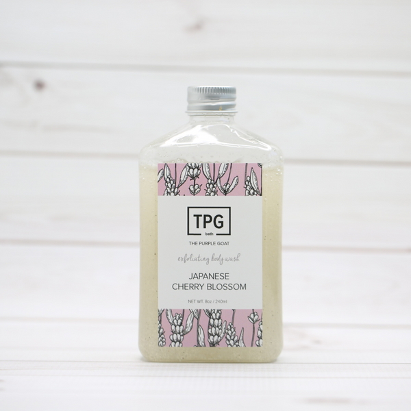 Exfoliating Body Wash - Japanese Cherry Blossom