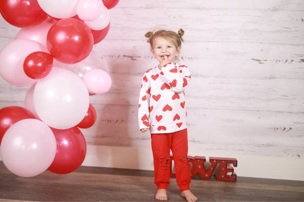 Vicky Hearts Pants Set