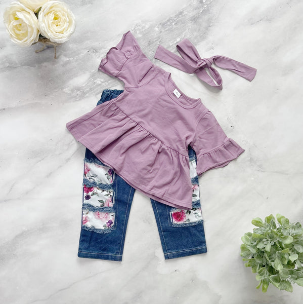 Dori Purple Pants Set