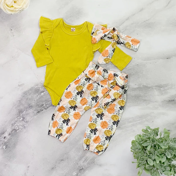 Allison Jumpsuit - Yellow