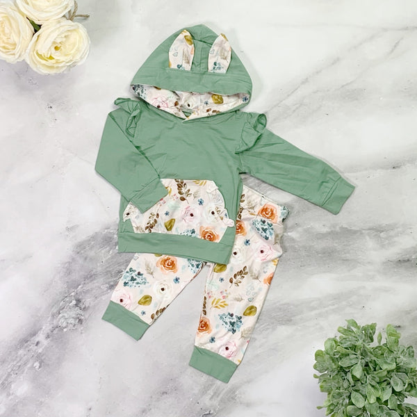Betty Bunny Pants Set - Green