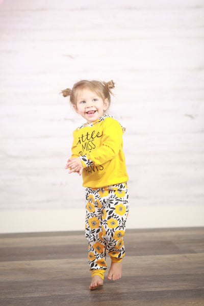Hilary Pants Set - Yellow