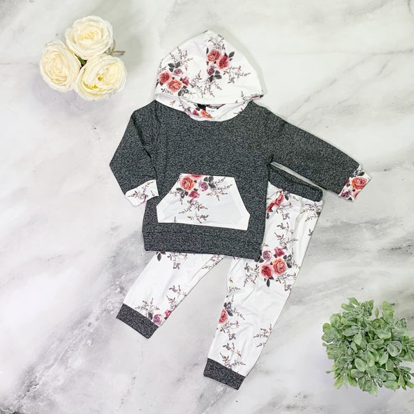 Susie Pants Set - Grey