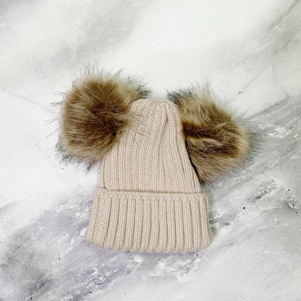 Knitted Hat - Beige
