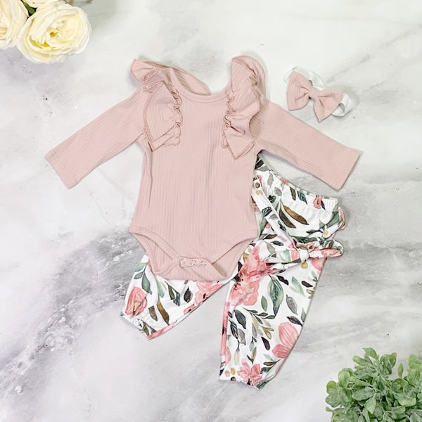Kate Pants Set - Pink