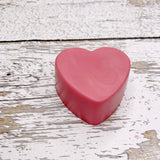 Large Heart Goat's Milk Soap - Red Roses