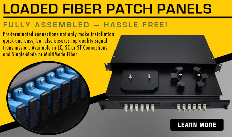 Loaded Fiber Optic Patch Panels