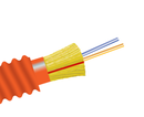 Fiber Optic Cable, 2 Strand, Multimode, 62.5/125 OM1, Armored Indoor/Outdoor Distribution, Plenum