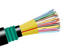 Direct Burial Fiber Optic Cable, Multimode, 50/125 10 Gig OM4, Outdoor, Polyethylene