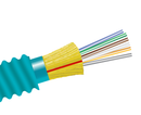 Fiber Optic Cable, 6 Strand, Multimode, 50/125 10 Gig OM3, Armored Indoor Distribution, Plenum