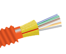 Fiber Optic Cable, 6 Strand, Multimode, 62.5/125 OM1, Armored Indoor Distribution, Plenum