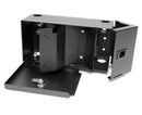 Added Security Fiber Wall Mount Enclosure, 1 Splice Tray & 2 Panel Capacity, Black