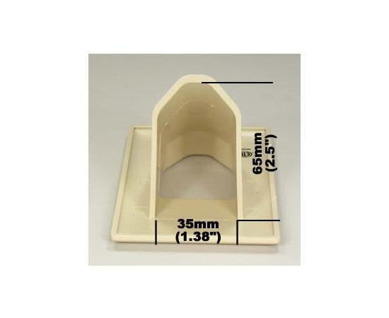 1-Gang Recessed Wall Plate - recess dimensions - ivory