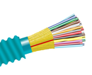 Armored Riser Fiber Optic Cable, Multimode 10 Gig OM4, Indoor/Outdoor Distribution