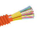 Armored Fiber Optic Cable, Multimode, 62.5/125 OM1, Indoor/Outdoor Distribution, Riser