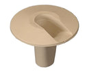 Flush Fiber Wall Entry Plug 3mm, Bend Radius Protector, Interior/Exterior Use, Ivory