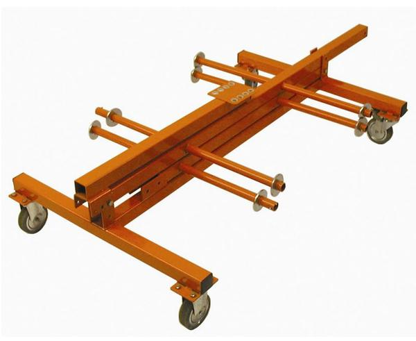 "Cable Dolly - 8 Axle, Four 12"" Wide Spindles, multiple spools"