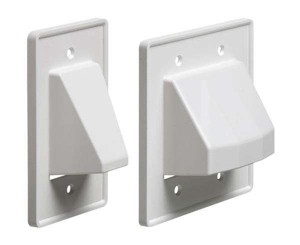 THE SCOOP™ Single & Dual Gang Reversible Non-Metallic Cable Entrance Plates