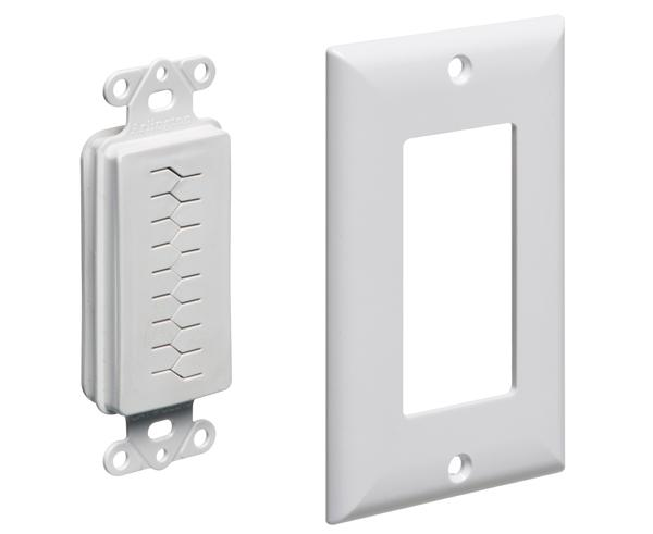The SCOOP™ Slotted Cable Entry Device With Decor Wall Plate