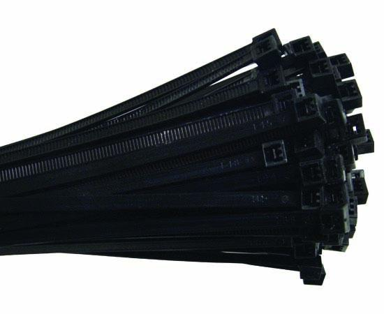 "7"" Nylon Cable Tie 50lbs Black 100pk"
