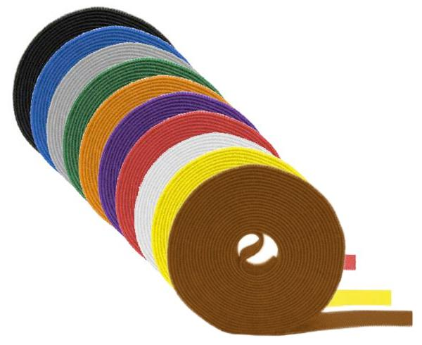 "Wrap Strap, Hook and Loop Fastener, 3/8"" x 75'"