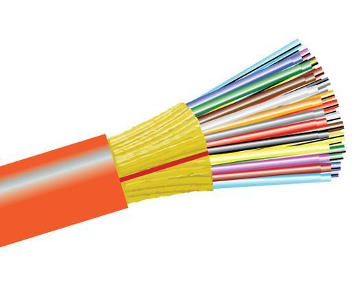 Tight Buffer Distribution Fiber Optic Cable, Multimode, OM1, Indoor/Outdoor, Plenum