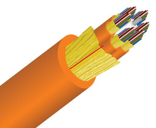 Tight Buffer Distribution Plenum Fiber Optic Cable, Multimode, OM1, Corning Fiber, Indoor