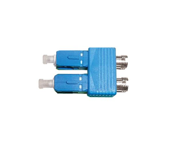 Fiber Tester Adapter, SC Male to FC Female, Duplex, Single Mode 9/125