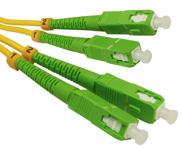 SC/APC-SC/APC, Singlemode, Duplex, Fiber Optic Patch Cable